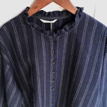ブルーウィローストライプシャツ