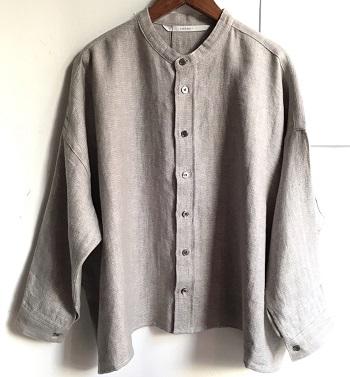 ヘブンリー バンドカラーシャツ